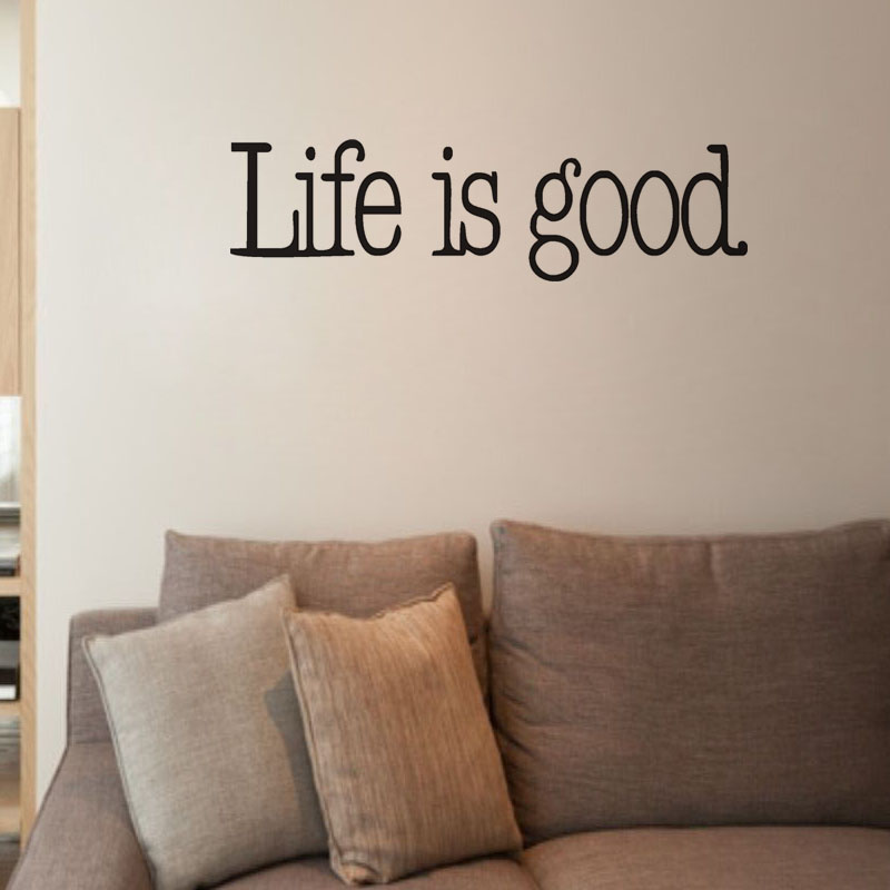 LIFE IS GOOD Vinyl Wall Quotes Sayings Words Lettering Decals Wall Stickers  Bedroom Home Decor Roo. Popular Bedroom Wall Sayings Buy Cheap Bedroom Wall Sayings lots