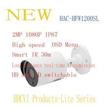 Free Shipping DAHUA Outdoor Camera 2Mp 1080P FULL HD Water-proof HDCVI IR Bullet Camera IP67 Without Logo HAC-HFW1200SL