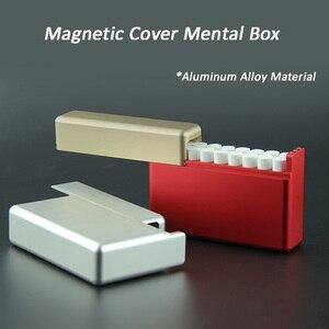 Image 1 - 18 otworów rękaw ochronny papierośnica ze stopu aluminium dla IQOS przechowywanie papierosów pudełko Mental Box