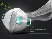 20pcs activated carbon Breath valve filte PM2.5 mask Anti Haze disposable Mouth muffle respirator Flu Face mask for Men Women