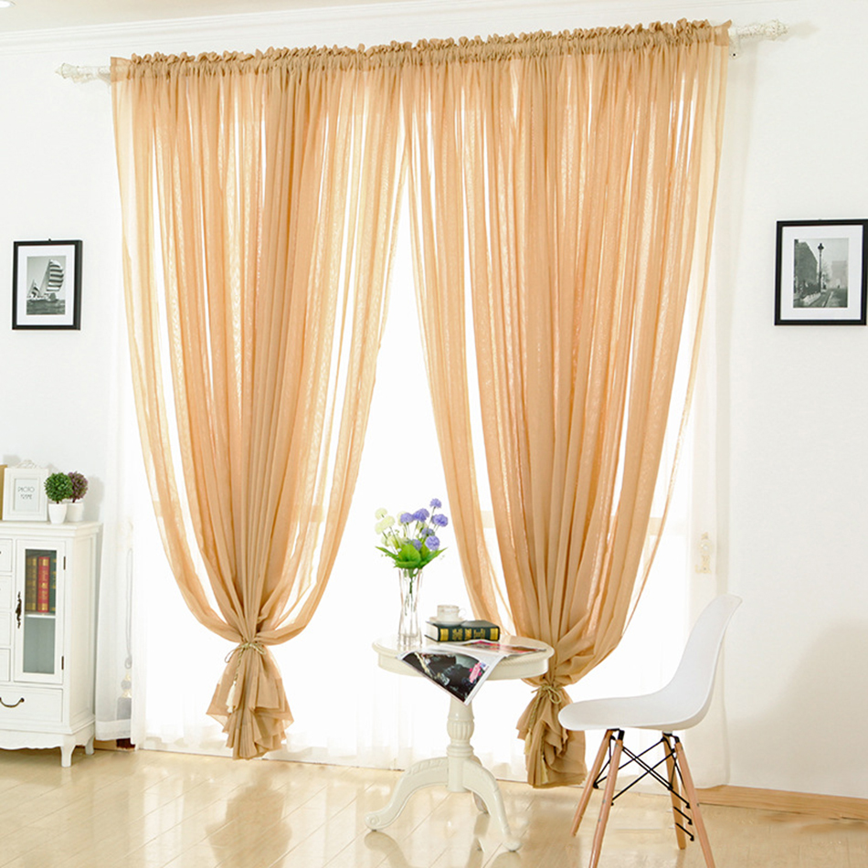 Kitchen Curtains Tulle White Green Small Door Window Curtains Blinds Short  Voile Linen Sheer Living Room
