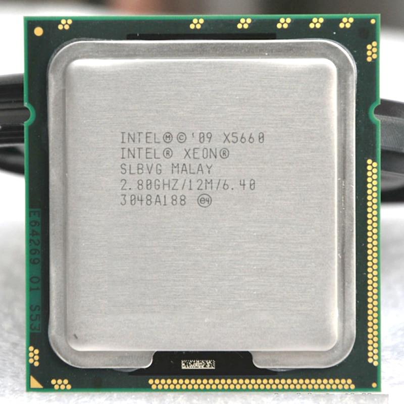 INTEL xeon X5660 INTEL X5660 CPU Processor 2.8GHz/ LGA1 366 SCOKET 1366 server CPU P warranty 1 year