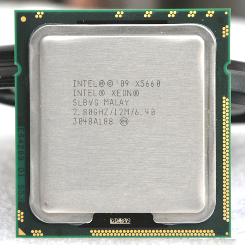 ФОТО INTEL xeon  X5660 INTEL X5660 CPU SLBV3  Processor 2.8GHz/ LGA1366  SCOKET 1366 server CPU P warranty 1 year
