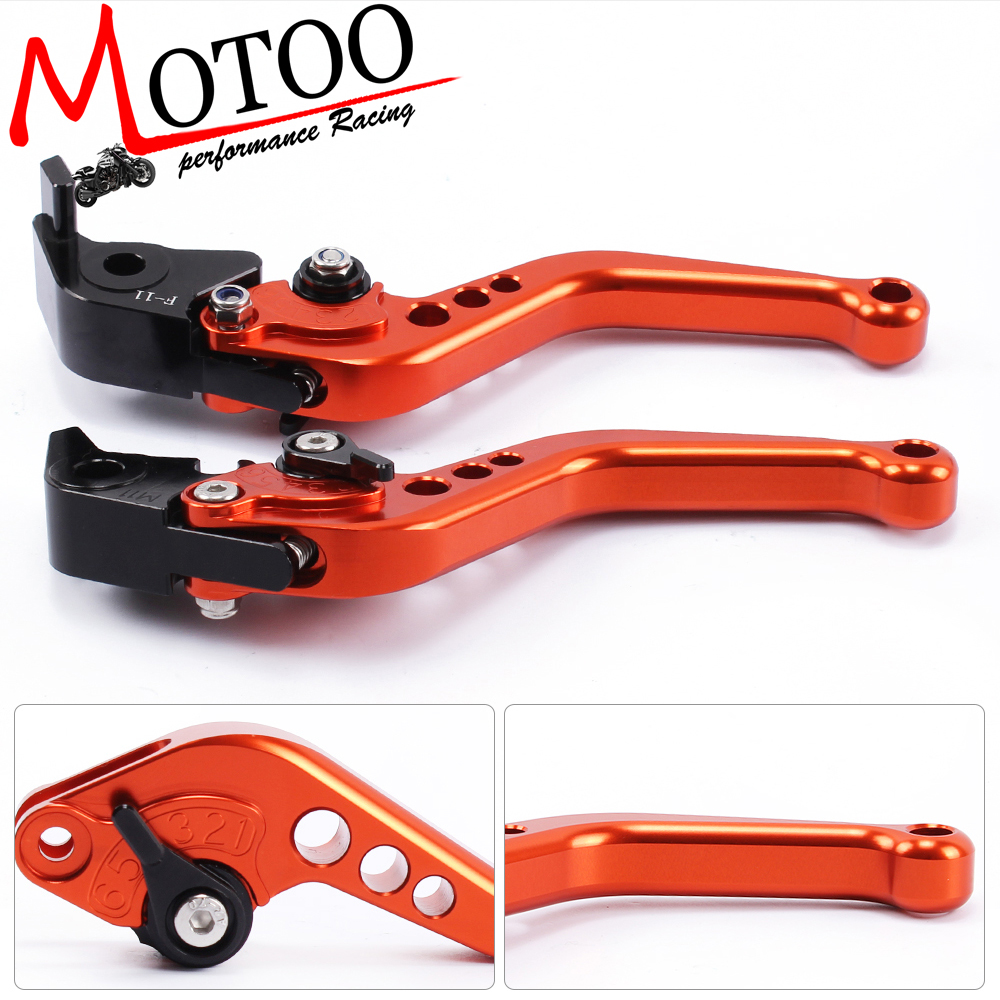 Motoo - F-11 M-11 Motorcycle Brake Clutch Levers For KTM 1290 Super Duke R/GT 2014-2017 990 SuperDuke 2005-2012  690 Duke 08-11 adjustable long folding clutch brake levers for kawasaki z1000 07 08 09 10 11 12 13 14 15 z1000sx tourer 2012 2013 2014 2015