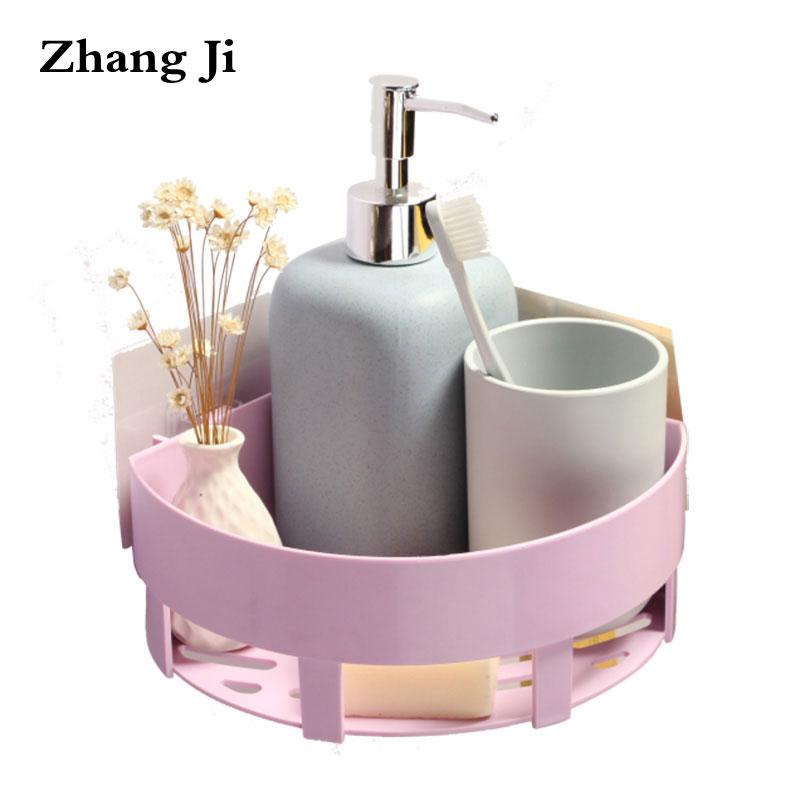 Zhang Ji Produit De Salle De Bain Mural Etagere D Angle 2 Couleurs Conception Simple Rangement Pour Cuisine Pp Boite De Rangement Materiel