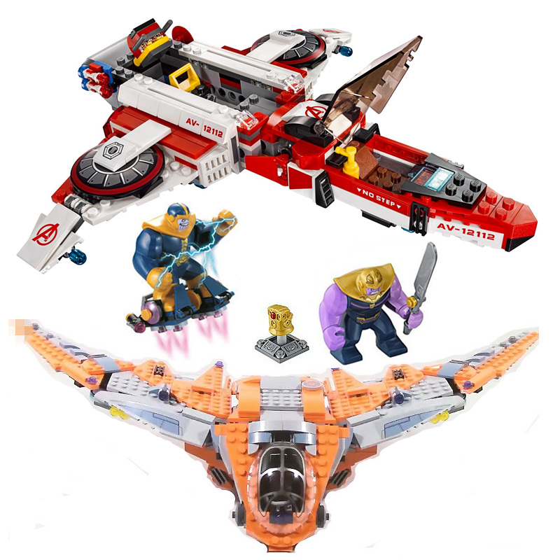 76107 76049 Marvel Avengers Space War Mission Thanos Ultimate Infinity Battle Building Blocks Decool 7120 Lepin 07103 Superhero