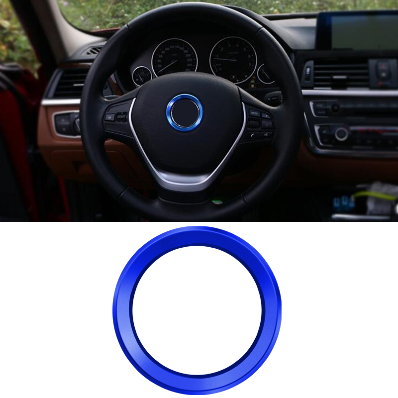 Car accessories Car Steering Wheel Center Decoration Case For <font><b>BMW</b></font> 1 3 4 <font><b>5</b></font> 7 Series M3 M5 E81 E87 F30 34 <font><b>F10</b></font> X1 X3 Car styling image