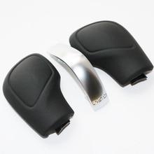 DAZOO черный из натуральной кожи ручка переключения Шестерни боковую крышку с Matt DSG для VW Golf 6 7 р GTI Passat B7 B8 CC R20 Jetta MK6 GLI
