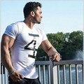Verano de 2016 larguero Camiseta hombre cuerpo de ingenieros de culturismo y fitness ropa deportiva para hombres suéter T-shirt
