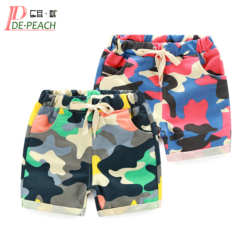 Fashion Baby Boys Girls Camouflage Shorts Toddler Baby Kids Sports Pants New Summer Cotton Children's Clothes Boys Casual Shorts new summer children boys sets baby boy active shorts tees pants 2 pieces kids casual o neck camouflage pattern kid clothing hot