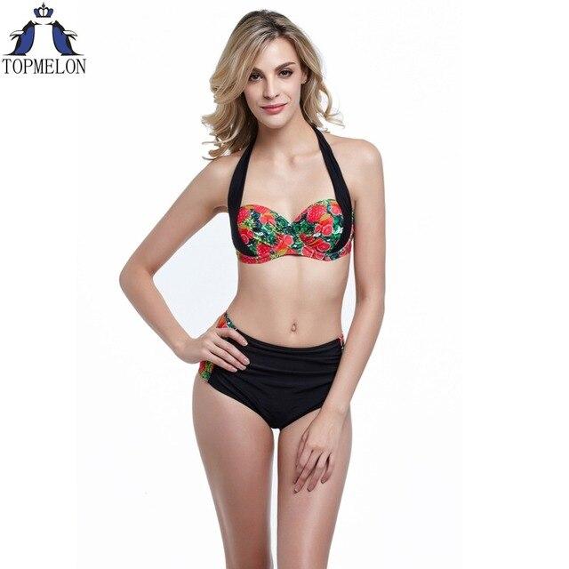 High Waist Bikini Set Swimsuit Women Swimwear