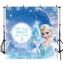 Frozen Ice Queen Princess Anna Children Baby Photography Studio Backgrounds Professional Indoor Photo Backdrops(China)