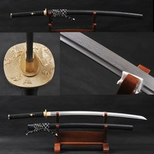 Vintage Home Metal Decoration Fully Handmade Samurai Sword Damascus Folded Steel Sharp Practical Knife Full Tang Katana
