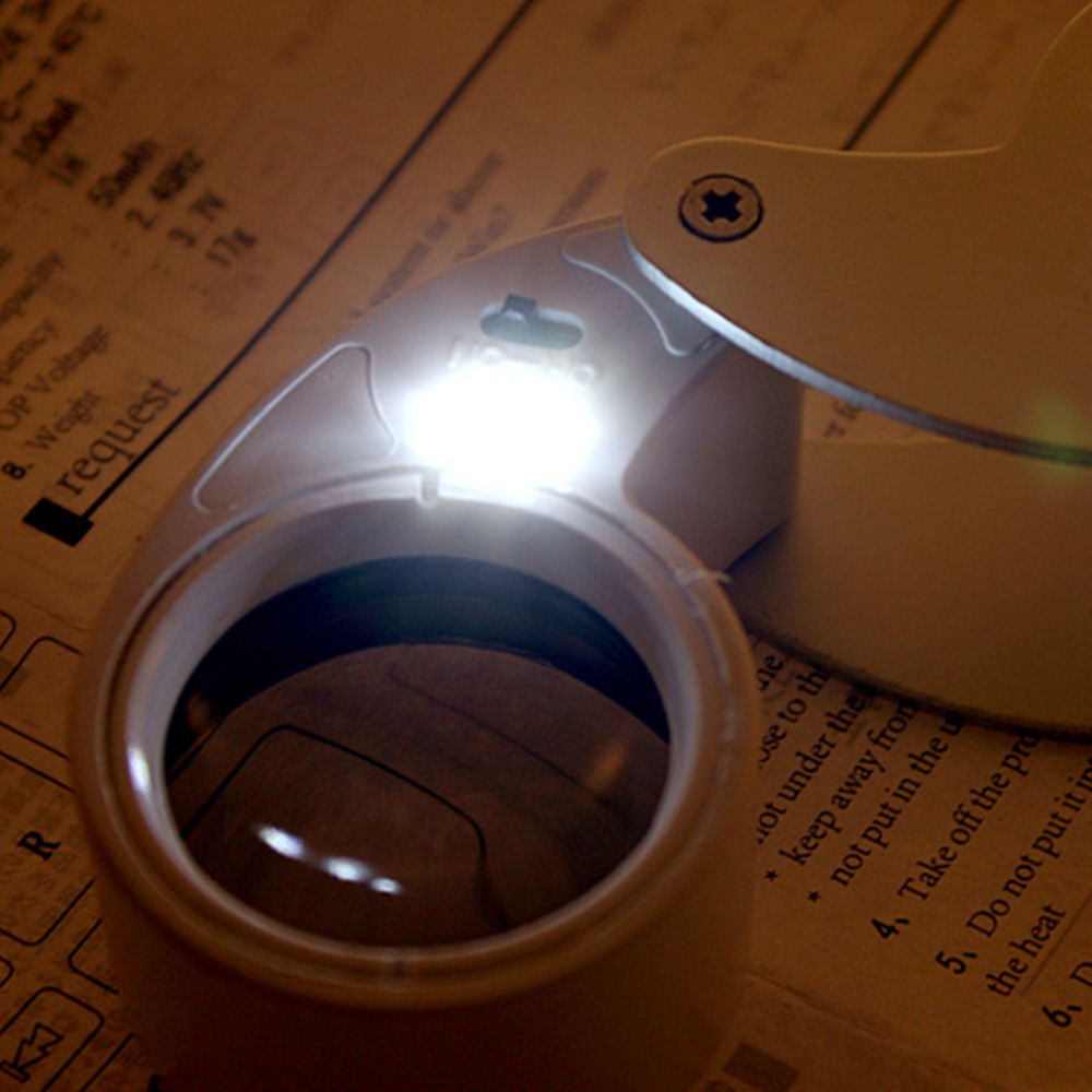 40x25 NEW LED Light Magnifier JEWELLERS GLASS LOUPE BUX