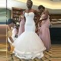 Новый 2016 Сшитое Сияющий Кристалл Арабский Свадебные Платья Сексуальная Русалка Свадебные Платья Мягкий Тюль Длинные Vestido Де Noiva