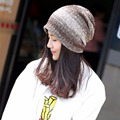 New Knitted 2016 Winter Hats for Women and Men Korean Plain Fur Beanie Cotton Hat Turban Cap Beanies for Chemo 56 CM To 60 CM L4