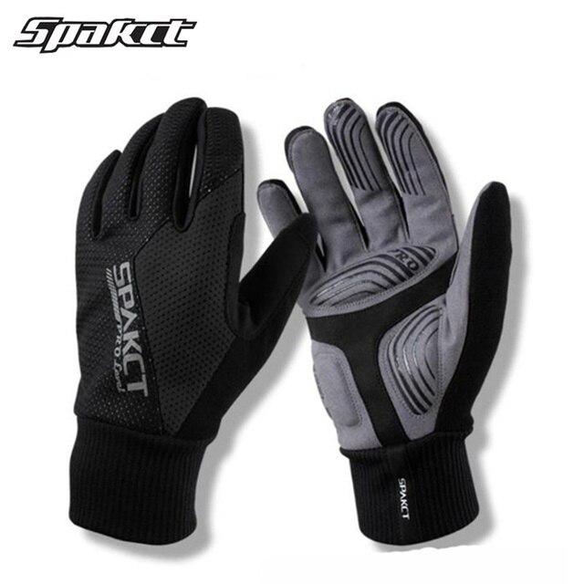 SPAKCT термальные лыжные перчатки Зима полный палец Снег ветрозащитный Открытый спортивные перчатки мужчины женщины сноуборд лыжные теплые перчатки