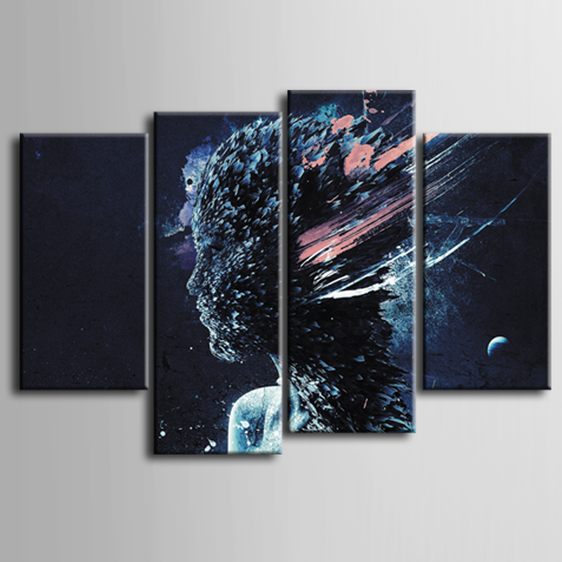 Wholesale Top Sale 4 Pcs Set Artist Canvas Abstract poster series Canvas Prints Wall Pictures for Living Room Picture ZT 3 45 in Painting Calligraphy from Home Garden
