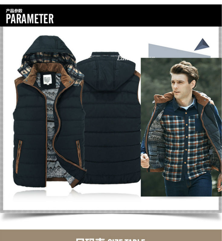 Free Shipping Mens Fishing Sleeveless Jacket Denim Outdoor Casual Casual Multi-pocket r Clothing Waistcoat Brand Winter Men VestE11662-0
