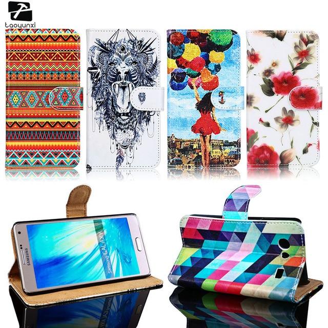 TAOYUNXI PU Leather Cases For Samsung Galaxy E5 E7 Advance S II Lite GT-I9070 Trend Plus S7580 S7562 Grand III 3 G720 Bag Covers