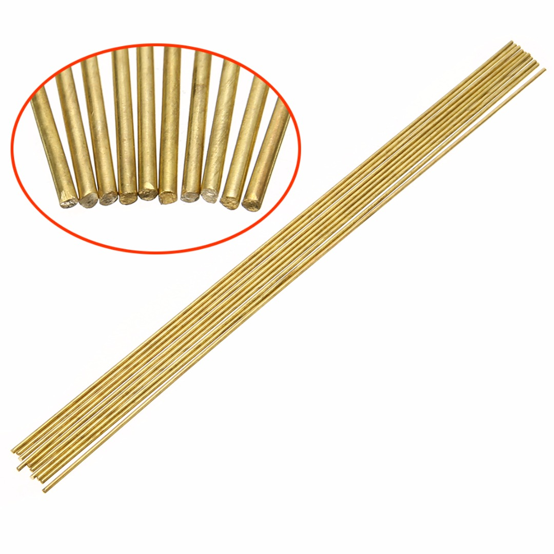 10pcs Brass Rods Wires Sticks 1.6x250mm For Repair Welding Brazing Soldering Tools