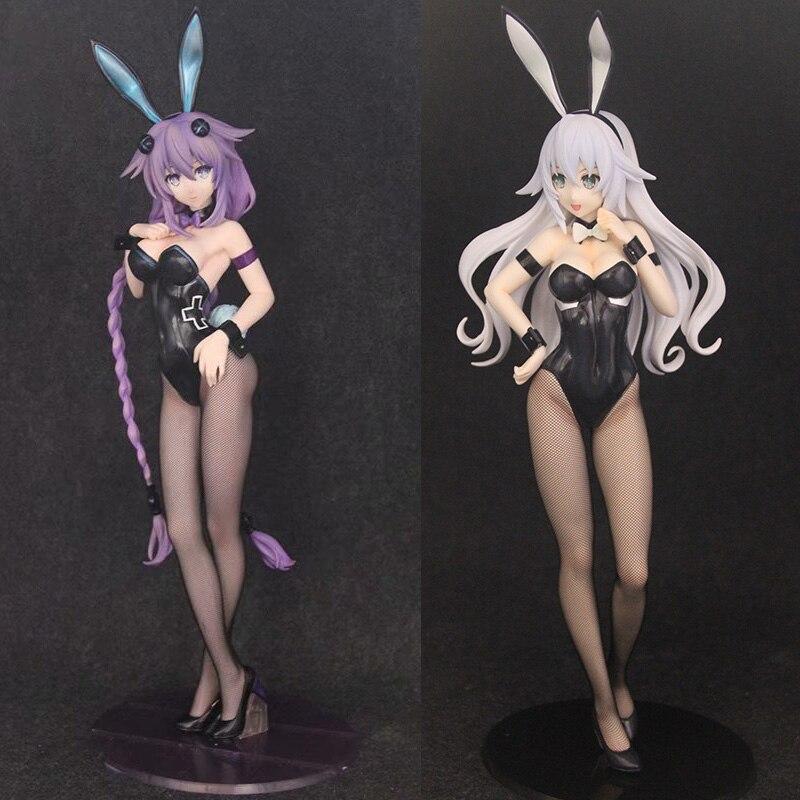 Hyperdimension Neptunia figurines poupées Noire Neptune anime action lapin fille sexy modèle figure peinte 1/4 échelle