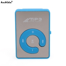 kebidu wholesale New Mini MP3 Music Player Portable Clip MP3 Player With Micro SD Card Slot Provide Stereo Earphone & USB Cable(China)