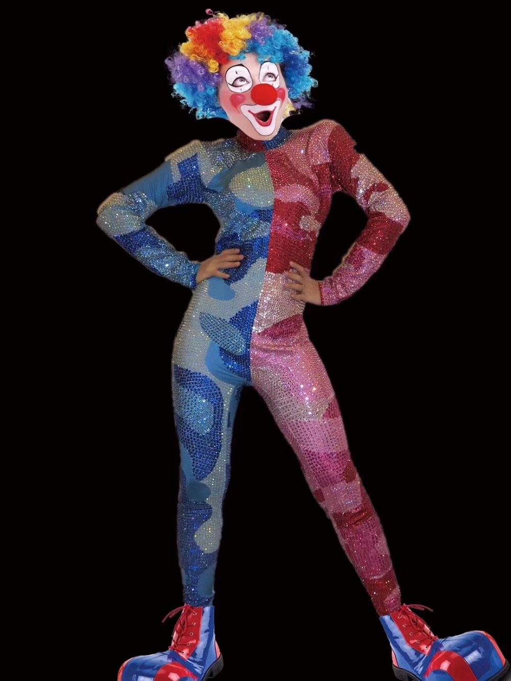 Stitches the Clown Adult Costume Size Medium