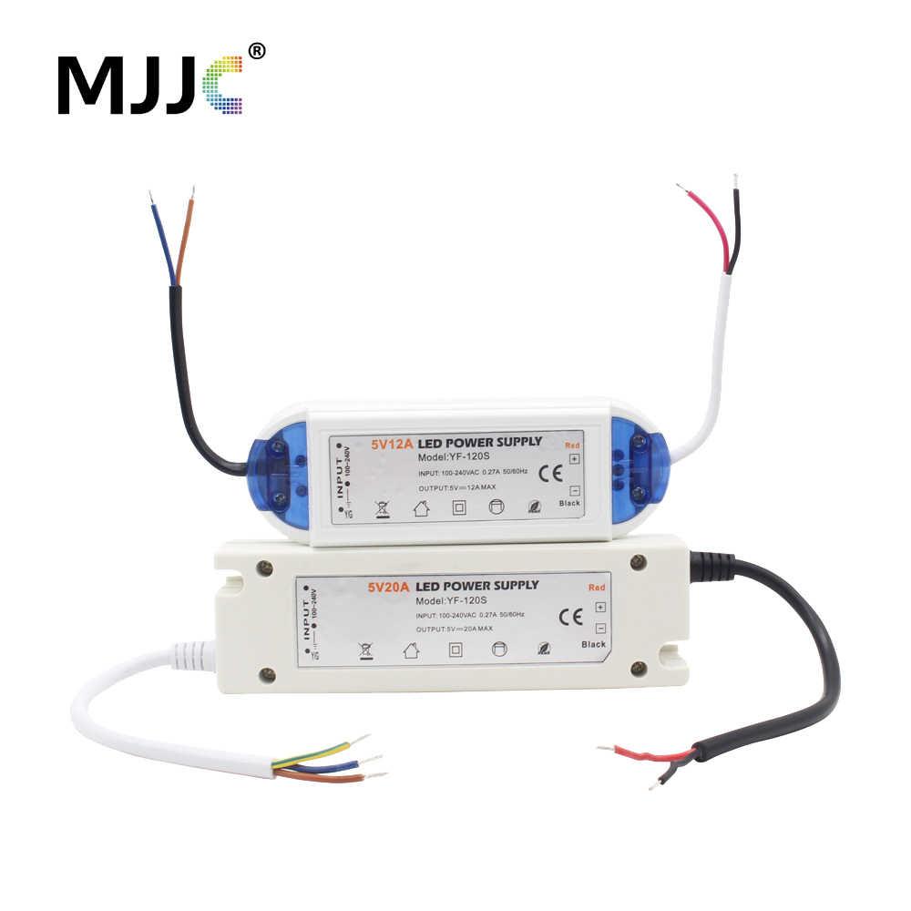 5 в источник питания 12 вольт светодиодный драйвер AC 110 В 220 к DC адаптер 18 Вт 28 48 60 72 100