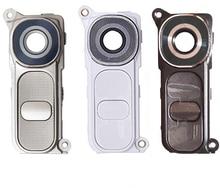 10pcs/Lot Original New Rear Back Camera Glass Lens Cover + Frame Holder + Power Volume Button Assembly For LG G4 H810 H815