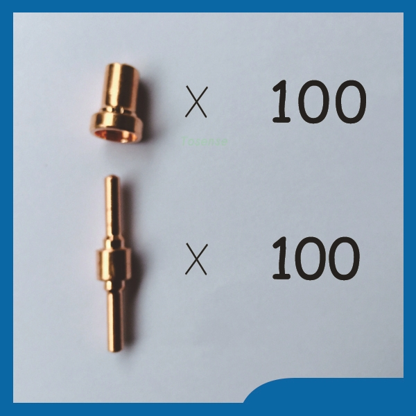 Factory direct sales Welding Torch Consumables TIPS Extended Spare parts Very useful Fit PT31 LG40 Consumables ;200pk  after quality inspection welding spare parts nozzles electrodes tip the best fit pt31 lg40 consumables 200pk