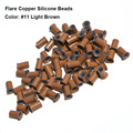 Flare Silicone Copper Micro Links 4.0*3.0*6.0MM Copper Micro Beads Hair Extensions Copper Tubes Dreadlock Beads Rings