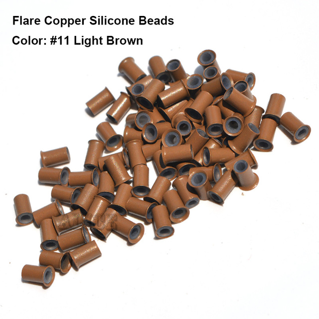 Flare silicone copper micro links 403060mm copper micro beads flare silicone copper micro links 403060mm copper micro beads hair extensions pmusecretfo Image collections