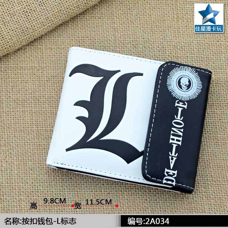 Anime Death Note the Symbol L of L.Lawliet Multilayer Colorful PU Short Wallet with Button batman volume 3 death of the family