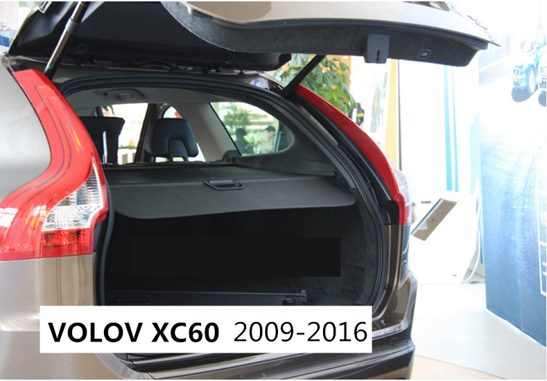 Car Rear Trunk Security Shield Cargo Cover For Volvo XC60 2009.2010.2011.2012.2013.2014.2015.2016 Trunk Shade Security Cover car rear trunk security shield shade cargo cover for hyundai creta ix25 2014 2015 2016 2017 black beige