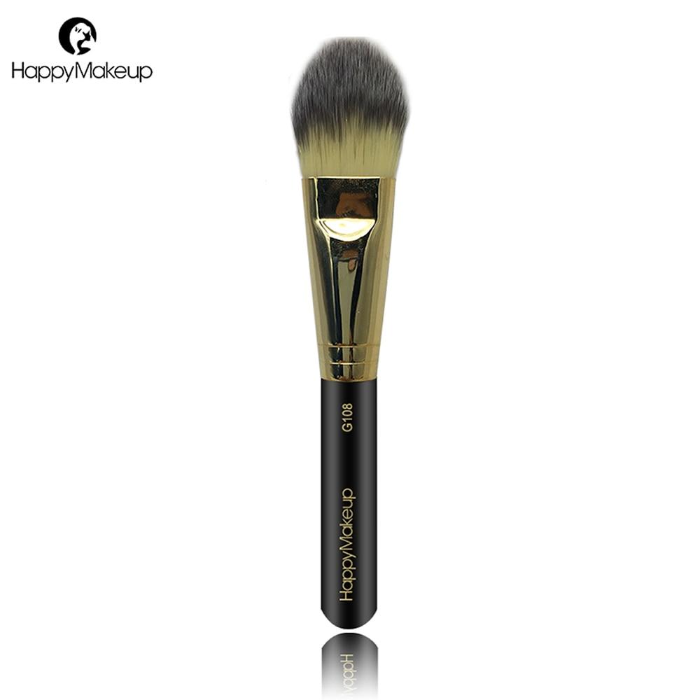 Happy Makeup Liquid Foundation Brush Fiber Hair 1Pcs Flat Large Face Concealer Cream Make Up Brush Facial Cosmetic Professional
