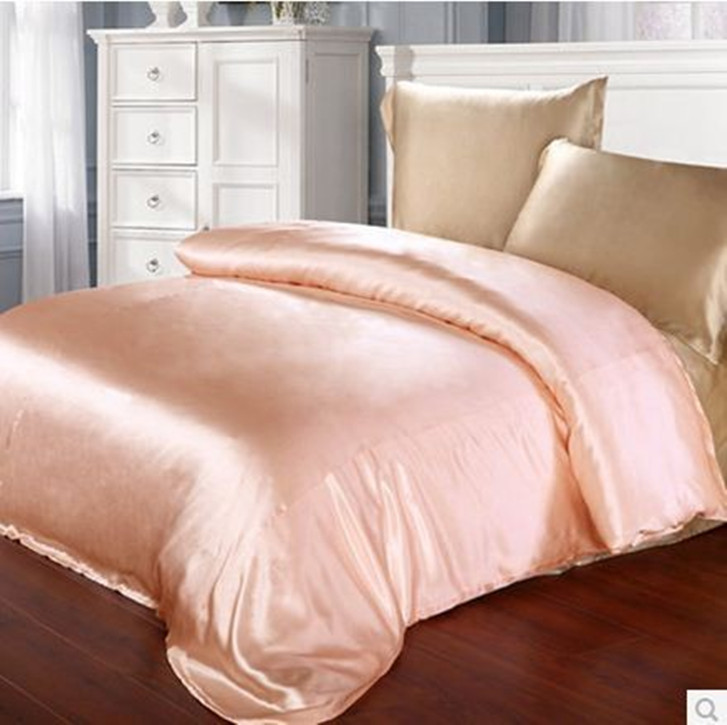Beige Champagne Pink Color 100 Mulberry Silk Bedding Set 19 Mm Seam Type 4 Pieces Queen King Size Customize In Sets From Home Garden On