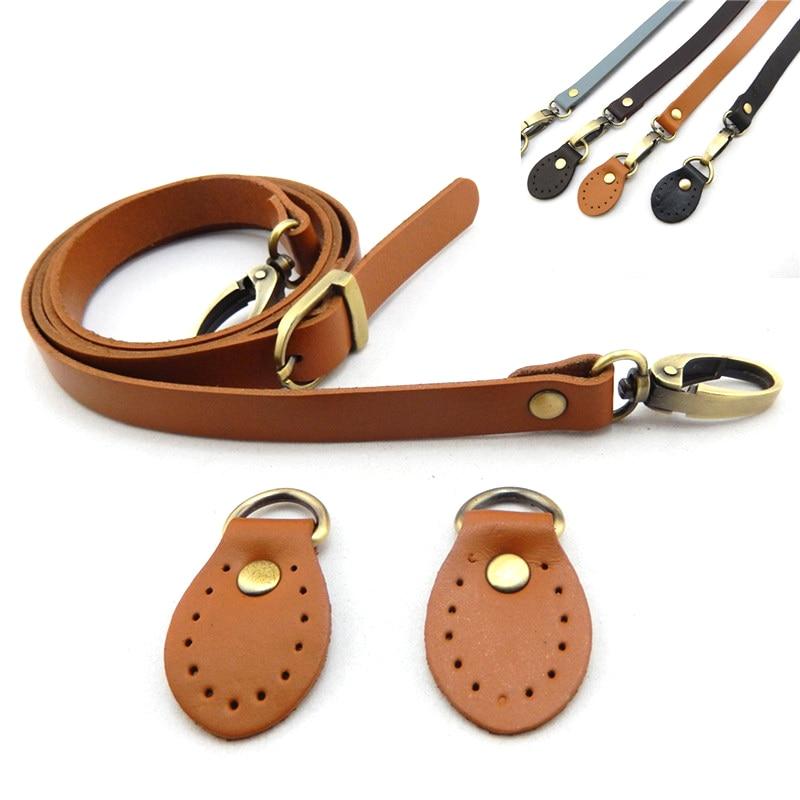 FASHIONS KZ 120cm Bag Strap Tree Bark Leather Handle Messenger Bag Handle Gold Buckle For DIY Handbag Accessories KZ0277