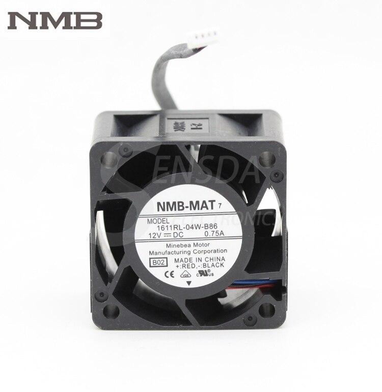 NMB 1611RL-04W-B86 4028 4CM 40mm 12V 0.75A high RPM fan violence