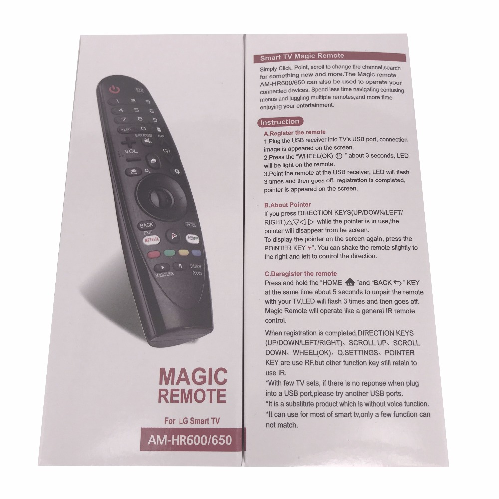 US $19 98 |New AM HR600 Replace Remote Control AN MR600 For LG Magic Smart  TV UF8500 43UH6030 UB,43UH6030 UD Fernbedienung-in Remote Controls from