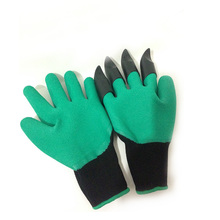 Garden Gloves With Fingertips Claws Quick Easy Dig Plant Rose Pruning Gloves Mittens Digging Gloves Planting Drop Breathable