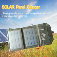 7W Portable Folding Solar Panel Power Source Mobile USB Charger with iSolar Technology for Cell phones GPS Digital for Samsung