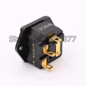 Image 3 - 24 K מצופה זהב חברת חשמל AC כניסת חברת FI 03G קלט עם הלחמה