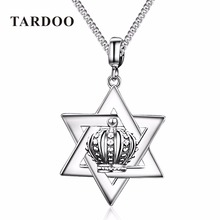 Tardoo New Hot 925 Sterling Silver lover Pendant Necklaces Crown & Hexagonal Star Pendant Noble Brand Fine Jewelry free shipping