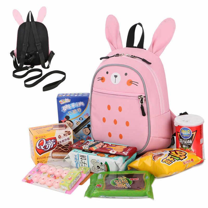 c52ef904c3 ... Children school bags for girls boys nursery baby kindergarten backpack  cute cartoon Animal rabbit schoolbag kids