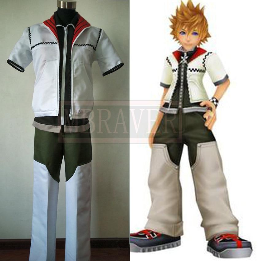 Kingdom Hearts Roxas Cosplay Costume Women Men Custom made Coat Pants Uniform