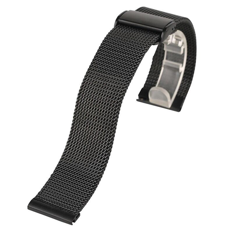 Высокое качество 18 мм/20 мм/22 мм Нержавеющаясталь часы ремешок для HuiWei черный, серебристый цвет Rosegold Цвет пружинной оси