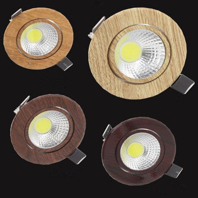 3 W 5 W ניתן לעמעום COB LED Downlights AC85V-265V אור ספוט שקוע מנורת תקרת Embeded