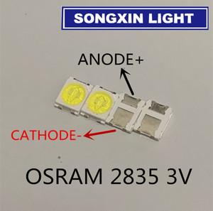 200 шт. для OSRAM СВЕТОДИОДНЫЙ подсветка высокая мощность светодиодный 1,5 Вт 3 в 1210 3528 2835 131LM холодный белый ЖК-подсветка для ТВ приложения