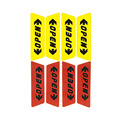 4PCS Car Door Open Reflective Sticker Anti-collision Warning Sticker Safty Car Decoration Accessories Styling Yellow and Red